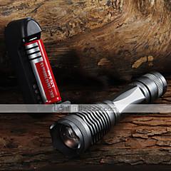 Beleuchtung LED Taschenlampen Hand Taschenlampen LED 2000 Lumen 5 Modus Cree XM-L T6 18650 AAA einstellbarer FokusCamping / Wandern /