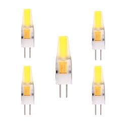 2W G4 LED-lamper med G-sokkel T 1 COB 150-200 lm Varm hvit Kjølig hvit Dekorativ AC 12 V 5 stk.