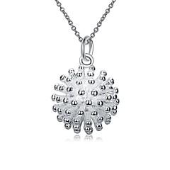 Damskie Naszyjniki z wisiorkami Łańcuszki na szyję Biżuteria Flower Shape Miedź Posrebrzany StopKlasyczny Unikalny Wiszący Geometryczny