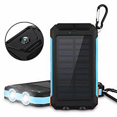 6000mAh Solar Power Bank Portable Solar Phone Charger Outdoors Emergency External Battery for Cellphone Multi-Output Flashlight