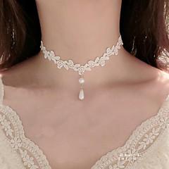 Dames Choker kettingen Imitatie Parel Bloemvorm Imitatieparel Kant Tatoeagestijl Hangende stijl Bloemen  Kostuum juwelen Sieraden Voor