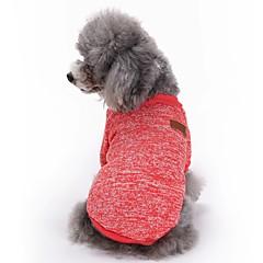 Koty Psy Płaszcze T-shirt Ubrania dla psów Zima Wiosna/jesień Jendolity kolor Urocze Modny SportowyCzerwony Green Niebieski Różowy Light