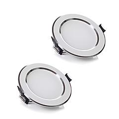 zdm 2db / tétel 5w vezeték AC 220 szabályozható led mennyezeti meleg fehér / hideg fehér led panle fény otthoni világítás