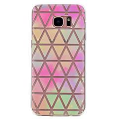 For Transparent Mønster Etui Bagcover Etui Geometrisk mønster Blødt TPU for Samsung S8 S7 edge S7 S6 edge S6 S5 Mini S5