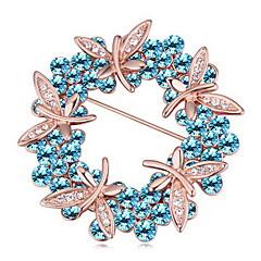 Γυναικεία Καρφίτσες Κοσμήματα Μοναδικό Λουλούδι Εξατομικευόμενο Euramerican Πετράδι Κράμα Κοσμήματα Λευκό Φούξια Μπλε Ουράνιο Τόξο