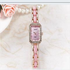 Damskie Modny Sztuczny Diamant Zegarek Kwarcowy Ceramiczny Pasmo Na co dzień Czarny Biały Złoty Różowy Purpurowy White Black Purple Różowy