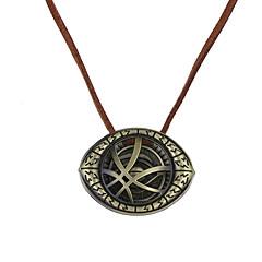 Męskie Damskie Naszyjniki z wisiorkami Biżuteria Oval Shape Stop Unikalny Logo Wiszący Postarzane Styl Punk euroamerykańskiej Biżuteria Na
