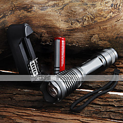 Lights LED Flashlights/Torch Handheld Flashlights/Torch LED 2000 Lumens 5 Mode Cree XM-L T6 18650 AAA Adjustable Focus Waterproof