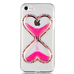 For Rhinsten Flydende væske GDS Etui Bagcover Etui Glitterskin 3D-tegneserie Blødt TPU for AppleiPhone 7 Plus iPhone 7 iPhone 6s Plus