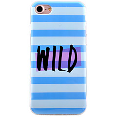 For Apple iPhone7 7 Plus 6s 6 Plus Case Cover Letter Stripes Pattern HD Painted IMD Process Thicker TPU Material Phone Case