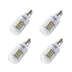 YouOKLight 4PCS E14/E27 4W AC/DC 12-24V 48xSMD2835 Cold White Light CRI80 LED Corn Bulbs Lamp