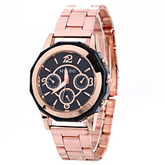 Women Fashion Watch Wrist watch Quartz Alloy Band Charm Cool Casual Unique Creative Silver Rose Gold White Black Rose Gold Strap Watch