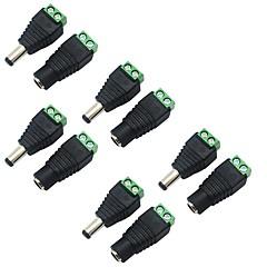 5 paquete de 5,5 x 2,1 mm barril de alimentación de 12V macho a conector de alimentación hembra conector de CC del adaptador para la
