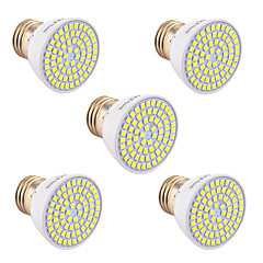 5Pcs YWXLight® E26/E27 GU5.3(MR16) GU10 72LED 7W LED 2835SMD 600-700Lm Warm White Cold White Natural White LED Spotlight (AC 110V/220V)