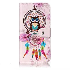 Do lg g6 obudowa pokrywa wiatru kuranty sowa wzór świecić ulga pu materiał karta stent portfel telefon przypadku