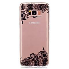 Mert IMD Átlátszó Minta Case Hátlap Case Csipke dizájn Puha TPU mert Samsung S8 S8 Plus S5 Mini S4 Mini