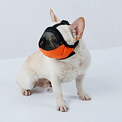 Hund muzzles rejse værktøj skønhed forsyninger tilbehør s m l justerbar rem foretet terylene brethable mesh kæledyr muzzles anti-bite