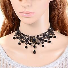 Damskie Naszyjniki choker sztuczna Sapphire Crown Shape Koronka Modny Turecki Klasyczny Biżuteria NaŚlub Impreza Specjalne okazje