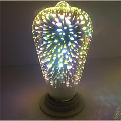 4W E27 LED-globepærer ST64 28 Integreret LED 350 lm Varm hvid Dekorativ Vekselstrøm 85-265 V 1 stk.