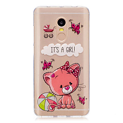 Til xiaomi redmi note 4 note 3 3s case cover tegneserie bjørn mønster bagcover soft tpu redmi note