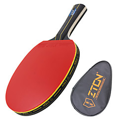 Ping Pang/Πινγκ πονγκ Ρακέτες Ping Pang Ξύλο Μακριά Λαβή Σπυράκια 1 Ρακέτα 1 Τσάντα επιτραπέζιου τένιςZTON