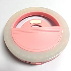 Κινητό φως οδήγησε λάμπα αυτόματου χρονοδιακόπτη USB φόρτιση ομορφιά φλας νυχτερινό φως ενσωματωμένη μπαταρία λιθίου ροζ