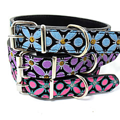 New hot sales High quality adjustable PU pet collar puppy dog necklace cat dog collar Butterfly style Christmas Accessories
