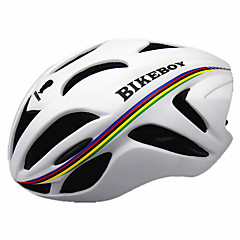 Sporlar Erkek Unisex Bisiklet Kask 18 Delikler Bisiklet Bisiklete biniciliği Dağ Bisikletçiliği M: 55-58CM L: 58-61CM PC EPSSarı Beyaz