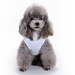 Cat Dog Shirt / T-Shirt Vest Dog Clothes Summer Geometic Cute Fashion Casual/Daily Bike Car Pattern