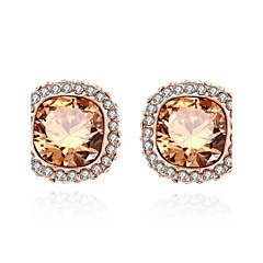 Stud Earrings Crystal AAA Cubic ZirconiaBasic Circular Unique Design Rhinestone Geometric Friendship Turkish Gothic Cute Style