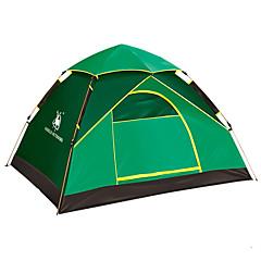 2 사람 텐트 싱글 자동 텐트 원 룸 캠핑 텐트 유리 섬유 방수 자외선 저항력 바람 방지 폴더-하이킹 캠핑-그린