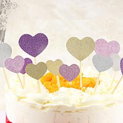 Udsmykning Værktøj Hjerte Til Kage Til Chokolade til brød Til Cupcakes spirende Plastik