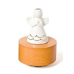 Music Box Cylindryczny Artykuły świąteczne Drewno Ceramika Dla obu płci