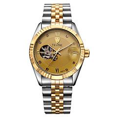 Tevise Miesten Unisex Pukukello Muotikello mekaaninen Watch Automaattinen itsevetävä Kalenteri Vedenkestävä Loistava jäljitelmä Diamond