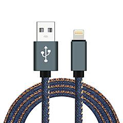 Lightning USB 2.0 Flätad Höghastighets Kabel Till iPhone iPad MacBook MacBook Air MacBook Pro cm Nylon Aluminium