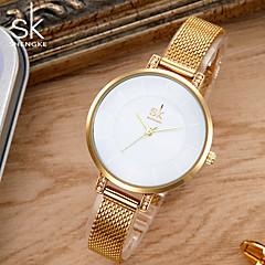 SK Dames Modieus horloge Armbandhorloge Unieke creatieve horloge Japans Kwarts Waterbestendig Stootvast Metaal Legering BandVintage