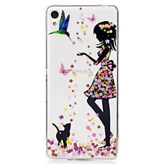 Για IMD Διαφανής Με σχέδια tok Πίσω Κάλυμμα tok Σέξι κυρία Μαλακή TPU για Sony Sony Xperia XA Sony Xperia M2