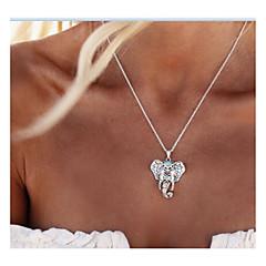 Dam Hänge Halsband Smycken Elefant Legering Djurdesign Mode Vintage Personlig Euramerikansk Smycken För Dagligen Casual 1 st