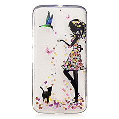 For IMD Transparent Mønster Etui Bagcover Etui Sexet kvinde Blødt TPU for Motorola Moto G4 Play Moto G4 Plus