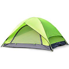 2 személy Sátor Dupla Összecsukható sátor Egy szoba kemping sátor Üvegszál Oxford Vízálló Hordozható-Túrázás Kemping-