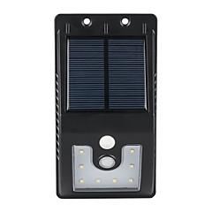 1db kültéri napelemes 10 SMD LED-es mozgásérzékelős falikar kerti lámpa