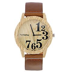 Αντρικά Γυναικεία Μοναδικό Creative ρολόι Καθημερινό Ρολόι Ρολόι Ξύλο Ρολόι Καρπού Κινέζικα Χαλαζίας ξύλινος / Δέρμα ΜπάνταΚαθημερινά