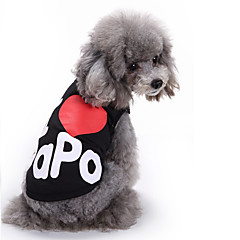 Cat Dog Shirt / T-Shirt Vest Dog Clothes Summer Letter & Number Cute Fashion Casual/Daily I Love Papa