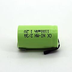 Ni-mh 2/3A  1100mAh  1.2V
