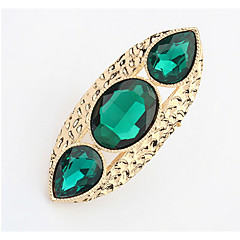 Bohemian Rhinestone  Delicate Personality Rings Women's Business Cuff Ring Jewelry Gifts