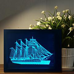 1 pc les cinq pièces originales de cadeaux pour le ménage bluetooth contrôleur audio commande 3d lampe de nuit