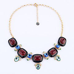 Women's Strands Necklaces Geometric Chrome Personalized Luxury Red Jewelry For Wedding Congratulations 1pc