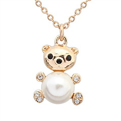 Women's Pendant Necklaces Jewelry Jewelry Pearl Alloy Euramerican Fashion Personalized Jewelry For Party Special Occasion Gift 1pc