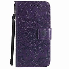 For Wiko Lenny 3 Wiko Lenny 2 Card Holder Wallet with Stand Flip Embossed Pattern Case Full Body Case Flower Hard PU Leather