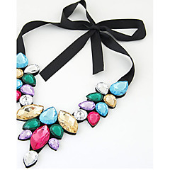 Women's Statement Necklaces Drop Acrylic Silk Unique Design Euramerican Fashion Bohemian Jewelry ForParty Special Occasion Birthday Thank